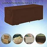 Outdoor Deck Box Cover Garten wasserdicht UV-Schutz Aufbewahrungsbox Schutzhülle 123x62x55cm Aufbewahrungsbox Protector