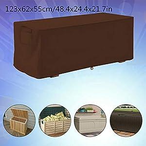 Outdoor Deck Box Cover Garten wasserdicht UV-Schutz Aufbewahrungsbox Schutzhülle 123x62x55cm Aufbewahrungsbox Protector(1#)