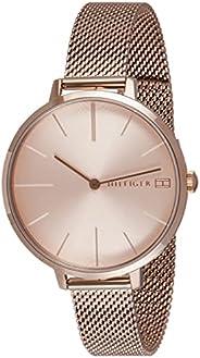ساعة بروجيكت من تومي هيلفجر للنساء بمينا ذهبي قرنفلي - 1782165