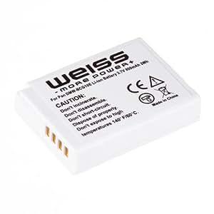 Weiss DMW-BCG10E Li-Ion Akku (3,7 V, 800 mAh) für Panasonic Lumix DMC TZ31 /  TZ25 / TZ22 / TZ18 / TZ10 u. a.