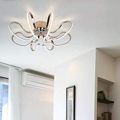Esszimmer Licht Höhe (W-LI Led-Deckenleuchte Moderne Elegante Deckenleuchte 8 Lichter, Led-Kreativleuchten Wohnraum Esszimmer Diele Schlafzimmer d 66 cm Höhe 22 cm, 3000 K)
