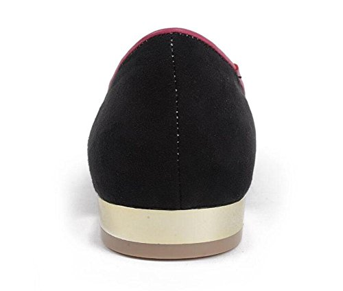 SHINIK Femmes Chaussures plates Sen Femmes Cool Broderie Cartoon Chaussures Cat Head Chaud Basse Boucle Basse Chaussures Chaussures Mules Chaussures Bottes Black