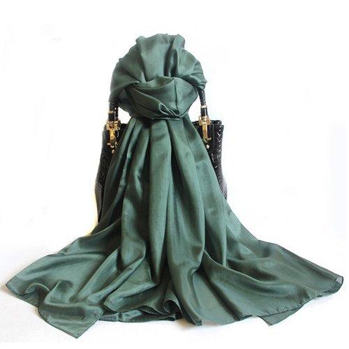 Upper-Frühjahr/Sommer Seide Schals Schal für Frauen Seide lange Sommer Sonne Schal dual-use-Seide Schals Schal, Rock Grün 0,65 * 2,5 M (Mädchen Pudel Rock)