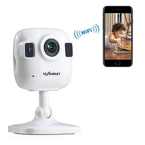 NEXGADGET-Ip-Cmara-de-Seguridad-Wifi-Mini-Audio-Bidireccional-con-Mic-Altavoz-Interior-Deteccin-Movimiento-Visin-Nocturna-Monitor-Remota-Alarma-Compatible-con-iOS-y-Android-para-Beb-Mascotas-Ancianos-