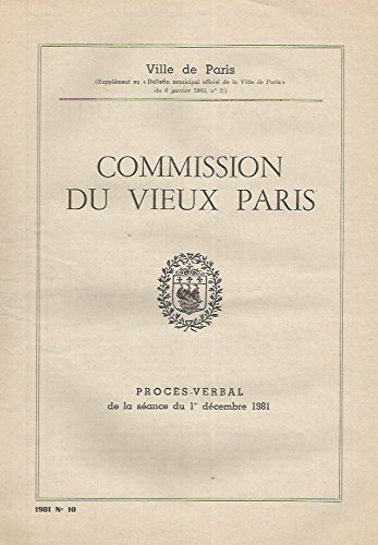 Commission du vieux Paris ( Procès-verbal ) - Porcelaine entre 1785 et 1835 par Ville de Paris - Note de Mme de Guillebon