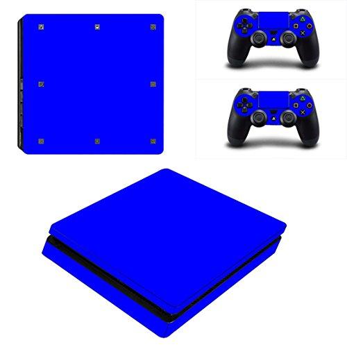 Stillshine PS4Slim Konsole Design Foils Vinyl Skin Sticker Decal Sticker and 2Playstation 4Slim Dualshock Controller Skins Set Blau (All Blue) -