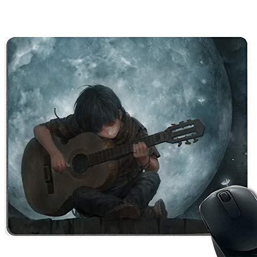 Tappetino per mouse da gioco - base in gomma antiscivolo - trama speciale tessitura trattamento - chitarra per suonare giovanile