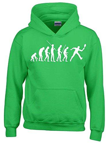 TENNIS Evolution Kinder Sweatshirt mit Kapuze HOODIE green-weiss, Gr.164cm