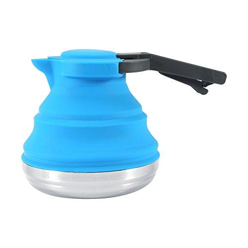 Silicone pieghevole bollitore Portable bollito acqua bollitore per tè, caffè casa Outdoor campeggio escursionismo viaggio Blue