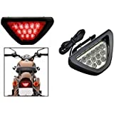 Autosun Red 12 LED Brake Light with Flasher for CAR and Bike