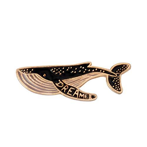 Vektenxi Premium Qualität Cartoon Tiere Broschen Wal Delphin Emaille Pin für Mädchen Hut Tasche Jacke Abzeichen