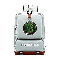 Riverdale Messi Unicorn Logo Backpack Book Bag Children School Bags Men Women Hip Hop Backpack for Girls and Boys (grey2)