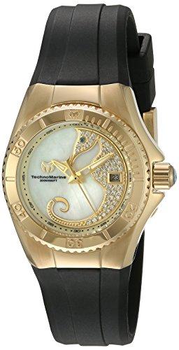TechnoMarine TM-115207 - Reloj de cuarzo para mujeres, color negro