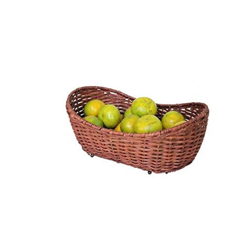 CHENGYI Brown Rattan Sammlung Korb Lagerung Korb Obst Töpfe Bambus Korb Körbe Kreativ Süßigkeiten Platte Schiff Design Grün Gesundheit Reines Hand Weben (Körbe Rattan Weben)