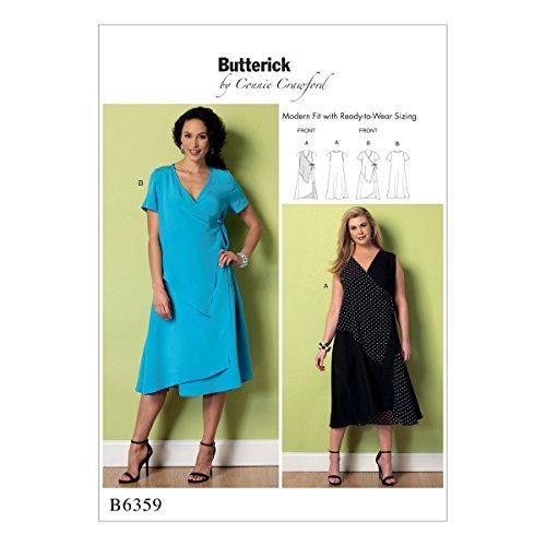 Crawford Muster (Butterick Patterns 6359lumen Frau Misses/Damen Kleid, Größen 2X Große-6x)