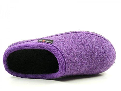 Haflinger 611086 Walktoffel uni Chaussons mixte adulte Violet
