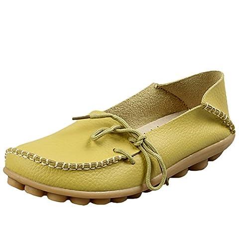 Vogstyle Damen Casual Slipper Flatschuhe Low-top Schuhe Erbsenschuhe Art 1 Apfelgrün 41