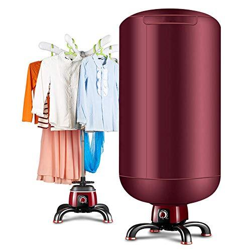 Zyx essiccatore elettrico dei vestiti- stendipanni a macchina del guardaroba caldo asciutto veloce portatile dell'aria per la casa ed i dormitori,red