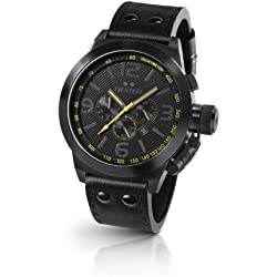 TW Steel Men's Quartz Watch Canteen Style TW-901 with Leather Strap