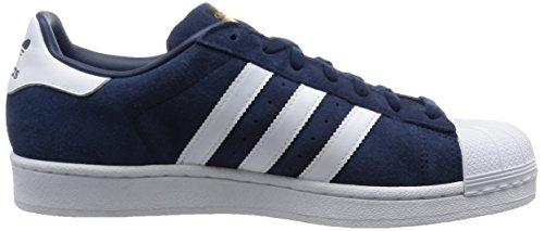 adidas Herren Superstar Suede Sneakers Blau (Collegiate Navy/Ftwr White/Collegiate Navy)