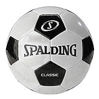 Spalding Unisex Child Classic Soccer ball - Black, Size 5