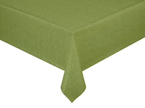 Wachstuch Premium Leinen Optik Hellgrün Grün · Eckig ca. 140x160 cm · Farbe & Länge wählbar·...