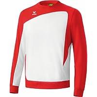 erima Trainingssweat Club 1900 - Sudadera de fútbol para niña, color blanco/rojo, talla 12 años (152 cm)