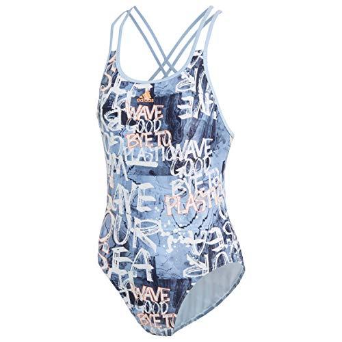 adidas Performance Damen Schwimmanzug blau 40