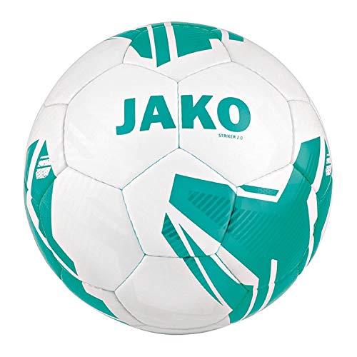 JAKO Fußbälle Lightball Striker 2.0 MS, weiß/türkis-350g, 5, 2356