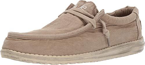 Hey Dude Wally Washed Shoes - Chestnut - Leder-optionen-beenden