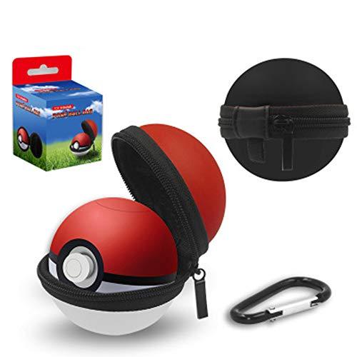 YAOkxin Carry Case für Nintendo Switch Poke Ball Plus Controller Protective Hard Zip Pouch mit Keychain Carabiner Belt Clip und Inner Pocket für Strap