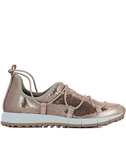 Jimmy-Choo-Womens-ANDREATQSTEAROSE-Pink-Leather-Sneakers