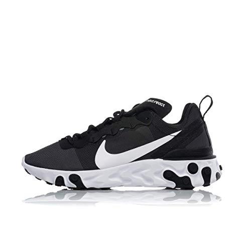 Nike React Element 55 Damen Schuhe,Schwarz (Black/White 003), 38.5 EU (Jacke Element Nike)