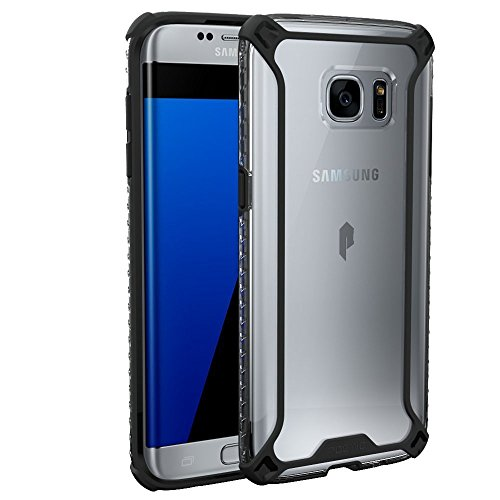 Galaxy S7 Edge Case, POETIC [Affinity Series] [Premium Thin][Corner Protection]No Bulk/Protection where its needed/Dual Material Protective Bumper Case for Samsung Galaxy S7 Edge Black/Clear