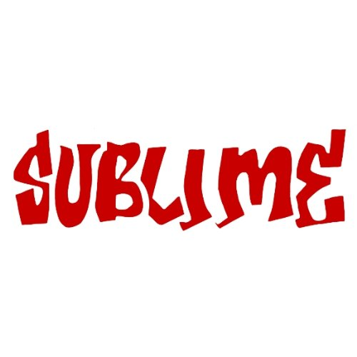 Sublime–Rot Logo Cut Out Aufkleber (Juniors T-shirt Sublime)