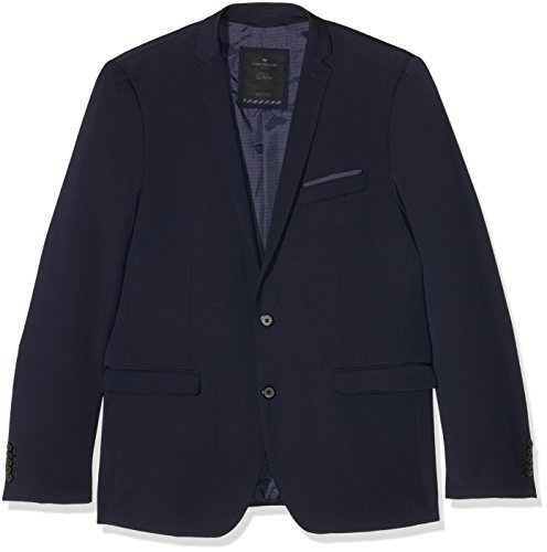Tom Tailor Solid Clean Suit Jacket, Veston Homme Bleu (navy 6000)