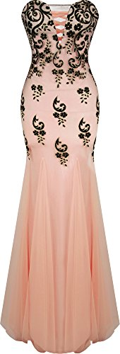 angel-fashions-femme-v-neck-floral-sequin-cour-train-sirene-robe-fourreau-small-orange