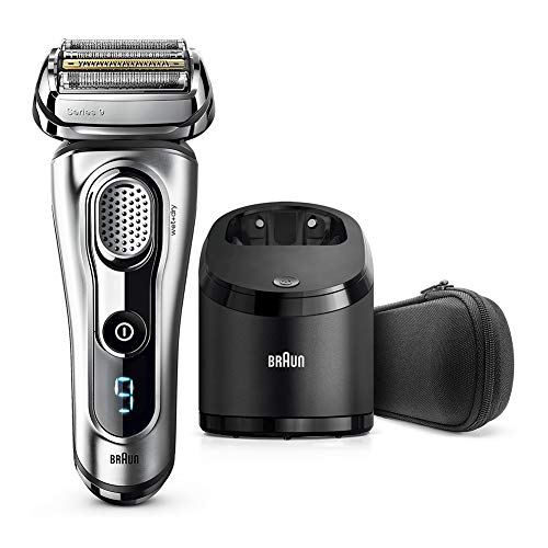 Braun Series 9 Electric Shaver for Men 9292 cc, Wet and Dry, Integrated Precision Trimmer, Rechargeable and Cordless Razor with Clean and Charge Station and Travel Case, Silver