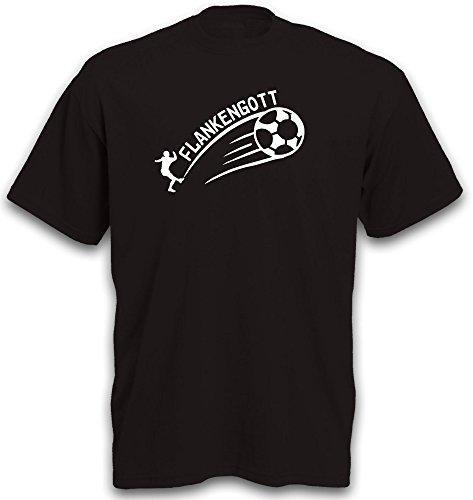 T-Shirt Flankengott Fussball Fußball Soccer Sport BL Gr. S-XXL Schwarz