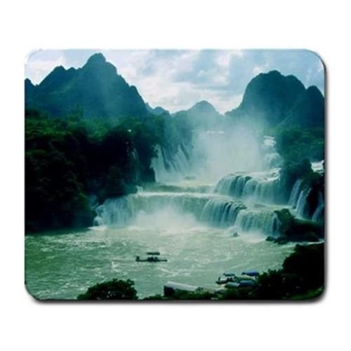 china-waterfall-river-mountains-mouse-mat-pad-mousepad