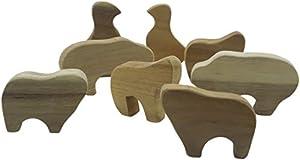 Lichee Toys 105014-Animales como Juego en Bolsa de algodón para niños pequeños
