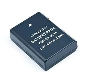 QUMOX Nouvelle Batterie décodée EN-EL14 ENEL14 pour Nikon D5600 P7000 P7100 D3100 D3200 D3300 D5100 D5200 DF D5300 D5500 D700 D7100 D7200 D7700