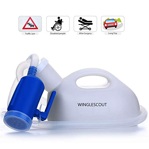 Urinflaschen für Männer,WINGLESCOUT 2000ML Urinflaschen Set,High Capacity Urinal Bottle for man,Male Urine Bottle Tragbar, Wiederverwendbarer Urinsammler für Frauen Urinflasche