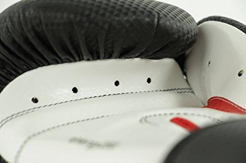 adidas Boxhandschuhe Energy 200, Schwarz/Weiß/Rot, 12, adiEBG200D -