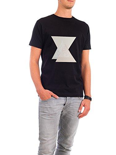 """Design T-Shirt Männer Continental Cotton """"Blush Triangles"""" - stylisches Shirt Abstrakt Geometrie von Paper Pixel Print Schwarz"""