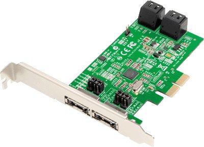Dawicontrol DC-624E Blister RAID-Kontroller (2X PCI-e, 4-Kanal, SATA III, RAID 0/1/5/10)