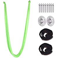 Yoga Swing, High Elastic Yoga Hammock Including Carabiner Fixing Tray Screw Daisy Chain Strap for Air Yoga Inversion Exercises