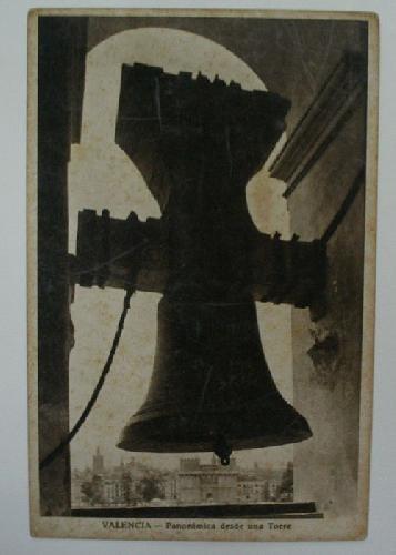 Antigua postal. Old post card - VALENCIA - Panorámica desde una Torre
