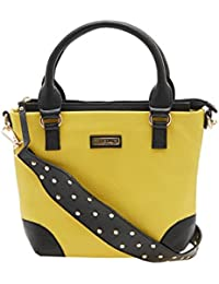 ESBEDA Yellow Color Solid Pu Synthetic Material Handbag For Women