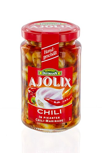 Feinkost Dittmann Ajolix Chili Knoblauchzehen mit Chili-Marinade 225 g